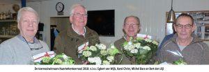 v.l.n.r. Egbert van Wijk, Karel Christ, Michel Bara en Bert den Uijl